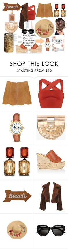 """Tanned..."" by parisvonder ❤ liked on Polyvore featuring Monki, Khaite, The Bradford Exchange, Cult Gaia, Palm Beach Jewelry, Chloé and Mud Pie"