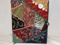 Large Crazy Quilt Covered Journal 1410