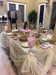 Paris gold and pink theme bridal shower
