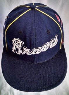 Atlanta Braves Fitted Baseball Cap Hat Size 7-3/8 Cooperstown Collection & #AmericanNeedle #AtlantaBraves