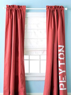 Stencil designs on your curtains