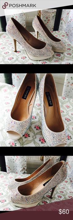 Brand new bling bling high heels Size 5.5 (36) Never used  Very pretty From Canada Shoes Heels