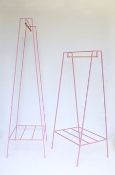 Image of 'A' clothes rail in pink