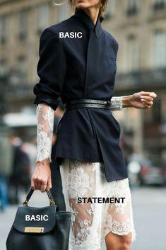 Как правильно сочетать разные предметы гардероба для интересных образов - простой прием.