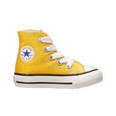 boys yellow converse