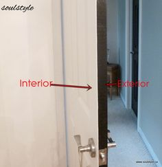 Consider different colors for each side of your door to make an impact on each room's individual style. #AdoreYourDoors