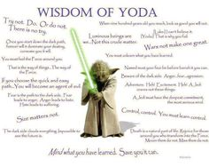 Fear is the path to the dark side and how Yoda-isms can help us break the cycle of fear! What are your favorite Yoda-isms...  http://thedirectiondiva.com/lessons-from-yoda-fear-is-the-path-to-the-dark-side/#