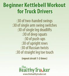 Beginner kettlebell workout for truck drivers