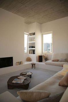 3 Loving ideas: Minimalist Interior Design Pink minimalist home living room decor.Colorful Minimalist Home Fireplaces. Home Interior Design, Interior Architecture, Interior Ideas, Modern Interior, Interior Inspiration, Contemporary Architecture, Ibiza Style Interior, Room Inspiration, Asian Interior