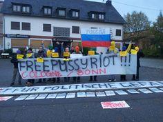 Pro Pussy Riot Flashmob vor Deutschland's einzigem russisch-orthodoxem Pilgerzentrum in Bekond   GL Aktuell Nachrichten aus Bergisch Gladbach
