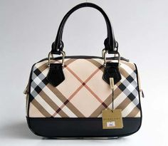 $244.99! Burberry Beige Grid Black_IV Sale handbags