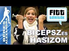 Béres Alexandra - Bicepsz és hasizom edzése (Fitt-térítők sorozat) - YouTube Zumba, Pilates, Exercises, Arm, Health Fitness, Workout, Youtube, Sports, Women