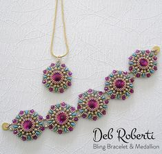 Bling Bracelet & Medallion | Bead-Patterns.com