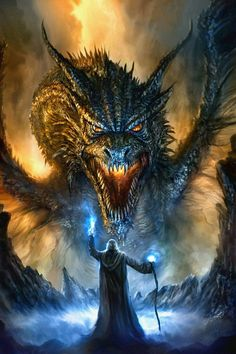 Dragon art inspiration for role play games. Revised Dragon Painting by Chris Scalf on DeviantArt Mythological Creatures, Mythical Creatures, Digital Art Illustration, Dragon Face, Dragon Fight, Cool Dragons, Dragons Den, Dragon Artwork, Fantasy Artwork