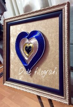 Filografi kalp nazar boncuğu tasarım Dide Filografi