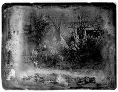 Oldest known Photo of a tipi 1847c.Daguerreotype