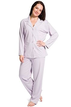 Fishers Finery Women's Women's Pajama Set; Long Sleeve, Ecofabric, Lavender, L. MADE USING EARTH-FRIENDLY MATERIALS: Help save the environment while feeling great as the Women's Tranquil Dreams Long Sleeve Pajama Set is made using 100% organic and sustainable materials. The material composition is 70% Bamboo Viscose, 25% Organic Cotton and 5% Spandex which are ideal for eco-fashion and unbeatable comfort. BREATHABLE PAJAMA: Allow yourself to feel the natural cooling effect that night brings…