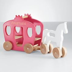 recycled wood horse + carriage
