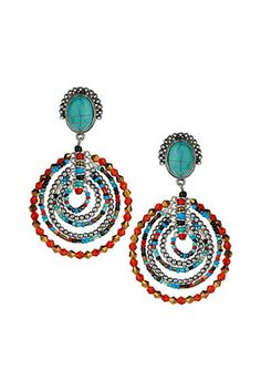 Mixed Bead Aztec Earrings