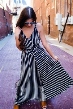 Black Striped Sheer Cover-Up Maxi - Dottie Couture Boutique