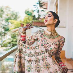 """The Wed Cafe™ on Instagram: """"On Cloud Nine #thewedcafe #wedmegood @wedmegood #shaadisaga  #indianbride #bridalwear #bridalmakeup #bridal #bridalmakeup #bridal #bride…"""" Bridal Make Up, Cloud, Floral Tops, Cold Shoulder Dress, Bride, Wedding, Instagram, Dresses, Women"""