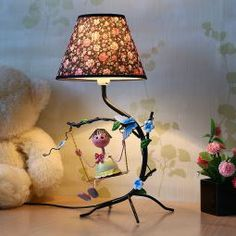 Grace Gully Doll On Swing Table Lamp