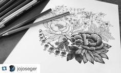 Lovely pic and coloring made by @jojoseger Would love to see the finished result in color! #blomstermandala #blomstermandalamålarbok