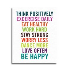 """Think Positively"" Canvas Print 16X20 – Quotrly #quotes"
