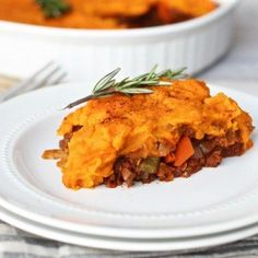 Whip up this delicious protein packed shepherd's pie with sweet potato topping recipe for a healthy gluten-free meal that everyone will enjoy!