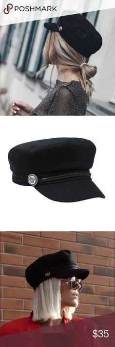 Womens Baker Boy Cap Hat Fashion Trend Black Regular Peak