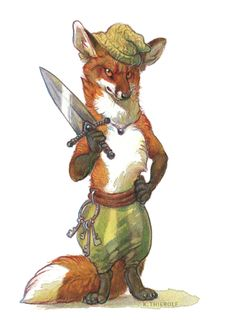 Foxguard by Rowkey fox humanoid anthro anthropomorphic fighter thief rogue assassin pirate armor clothes clothing fashion player character npc | Create your own roleplaying game material w/ RPG Bard: www.rpgbard.com | Writing inspiration for Dungeons and Dragons DND D&D Pathfinder PFRPG Warhammer 40k Star Wars Shadowrun Call of Cthulhu Lord of the Rings LoTR + d20 fantasy science fiction scifi horror design | Not Trusty Sword art: click artwork for source