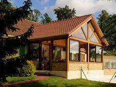 1000 images about v randa bois vie veranda on pinterest verandas - Veranda avec toiture tuile ...