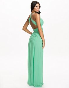f7d15b04d413fc NLY Eve - Empire Maxi Dress mujer Mint Taille EU 34 100% poliester.