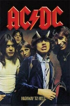 Ac/Dc Highway To Hell Music Collectors Poster Rock Indé, Old Rock, Rock And Roll, Pochette Cd, Retro Band, Rock Band Posters, Photographie Portrait Inspiration, Band Wallpapers, Photo Wall Collage