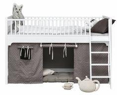 halbhohes bett von oliver furniture hochbett mit niedriger einstiegshhe und hohem fallschutz 90x200 cm - Oliver Furniture Hochbett
