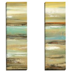 Daring Departure 1 by Elinor Luna 2 Piece Painting Print on Wrapped Canvas Set