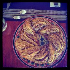 Recetas RRG: Rosca de nuez o rosca árabe Arabic Dessert, Arabic Sweets, Sweets Cake, Pie Cake, Middle Eastern Recipes, Cooking Time, Love Food, Bakery, Sweet Treats