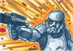 Stormtrooper sketch card by vibog-3.deviantart.com on @deviantART