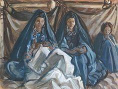 Peinture Algérie - Femmes du Hoggar by Charles Brouty