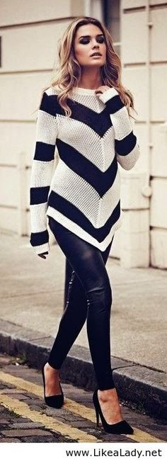 The perfect white and black outfit