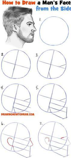 How to Draw a Face from the Side Profile View (Male / Man) Easy Step by Step Drawing Tutorial for Beginners - How to Draw Step by Step Drawing Tutorials