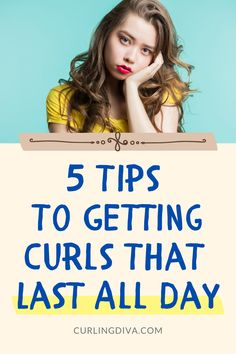 Ever wonder how to get curls to hold all day and not just an hour?  Keep your curls from falling flat as soon as you step out of the house. Follow these tips and tricks on how to get your curls to last for days! #curls #curlyhair #hairhacks