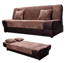 Fabric & PU Click Clack sofa bed, comfortable with storage sofa bed.