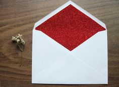 Set of 10 / Holiday / Red Silver or Gold Glitter by punchpaper