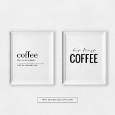Citas imprimibles café café amantes del café regalo