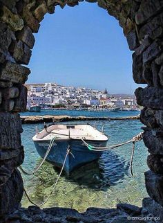 Naoussa village, Paros island, Cyclades, Greece
