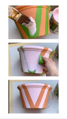 Paint Garden Pots, Painted Plant Pots, Terracotta Plant Pots, Painted Flower Pots, Painting Terracotta Pots, Painted Pebbles, Flower Pot Design, Decoration Plante, Decorated Flower Pots