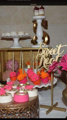 Gold Pink Orange Bridal/Wedding Shower Party Ideas   Photo 1 of 11