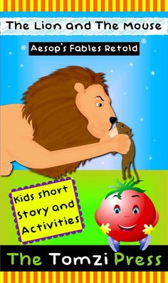 The lion and the mouse - available on Kindle - kids picture story book with activities