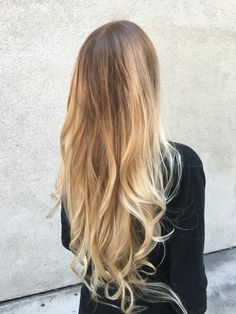 California balayage blonde with colourwand balayage tools
